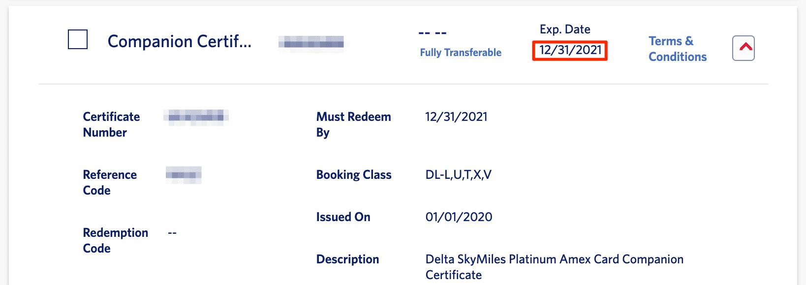 delta extending companion certificates