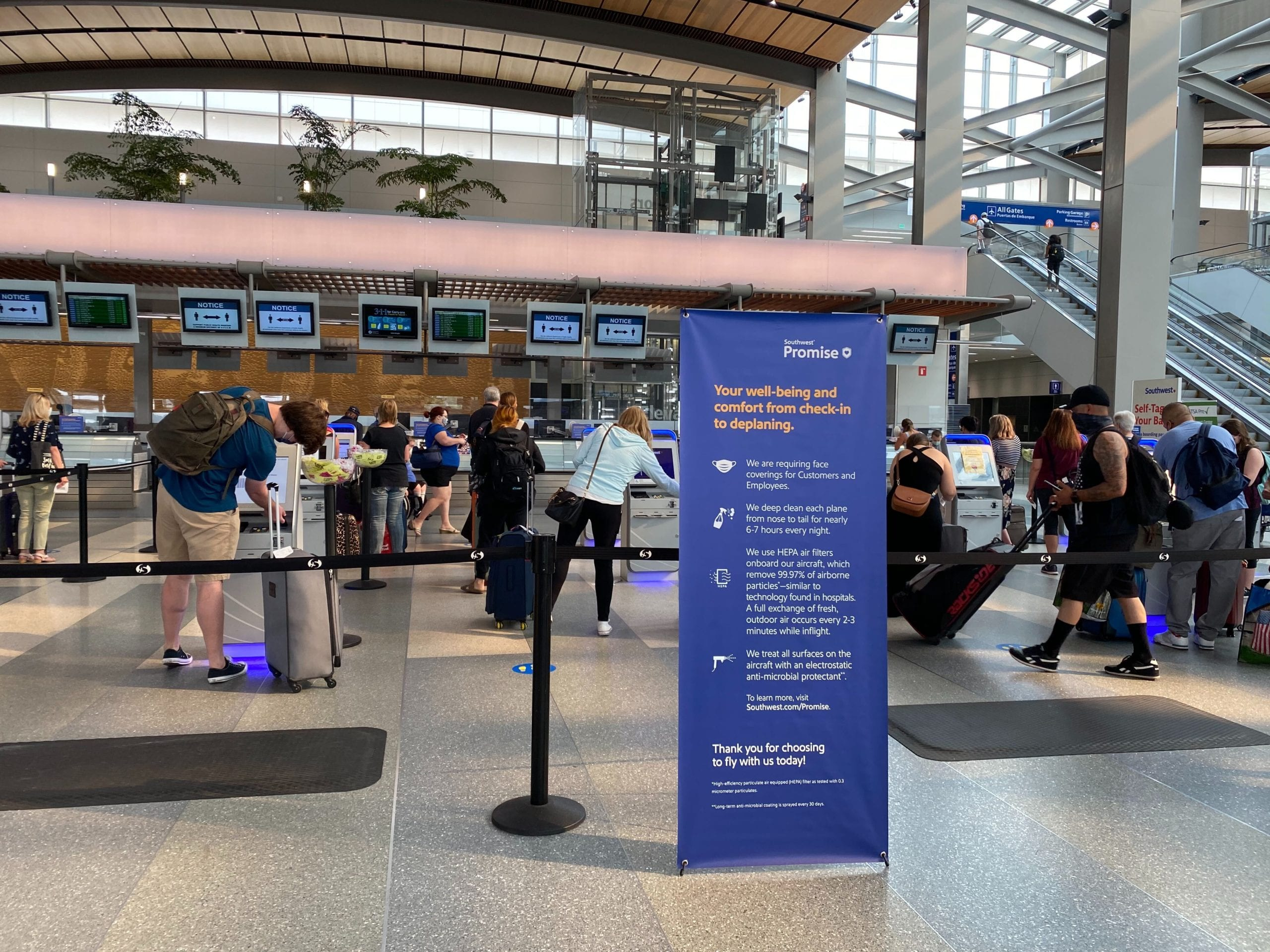 southwest check-in area