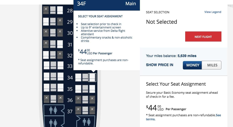 delta seats