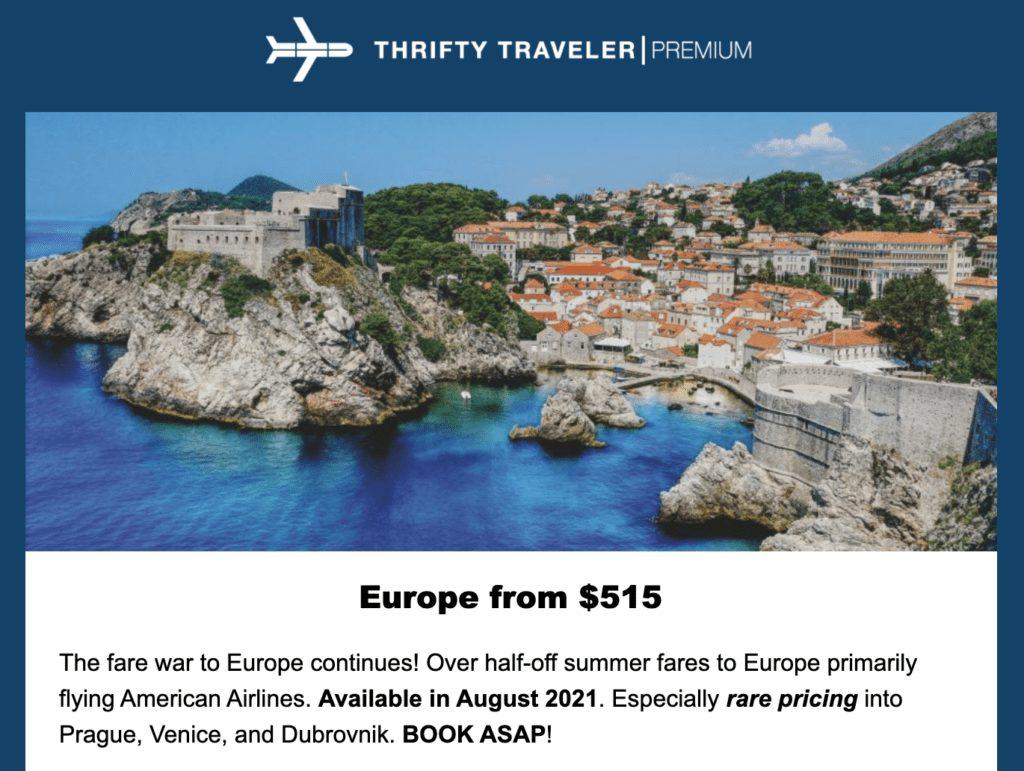 europe 2021 black Friday flight deals