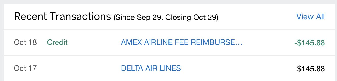 amex airline credits delta