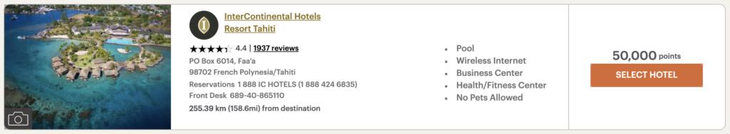 IHG Tahiti Booking