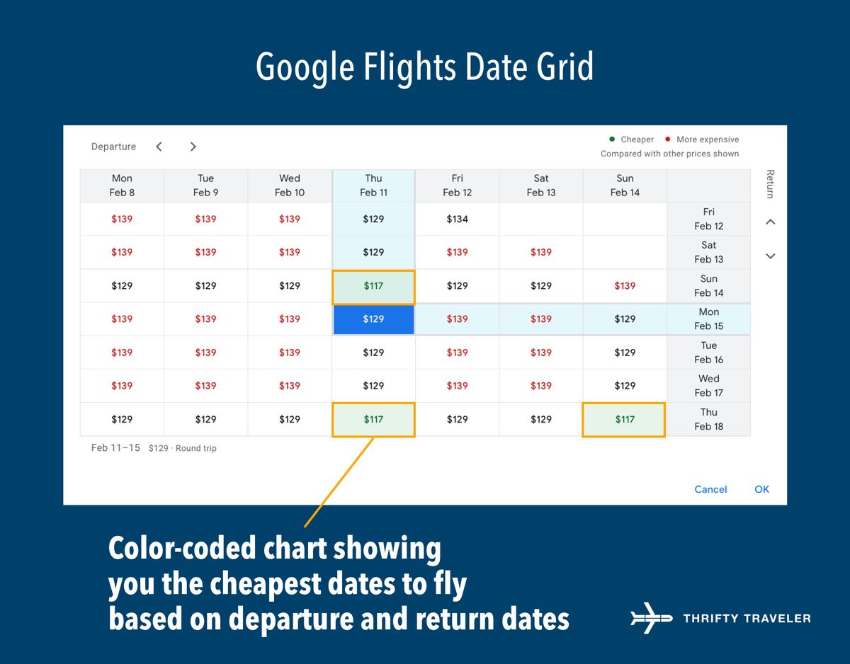 google flights dates