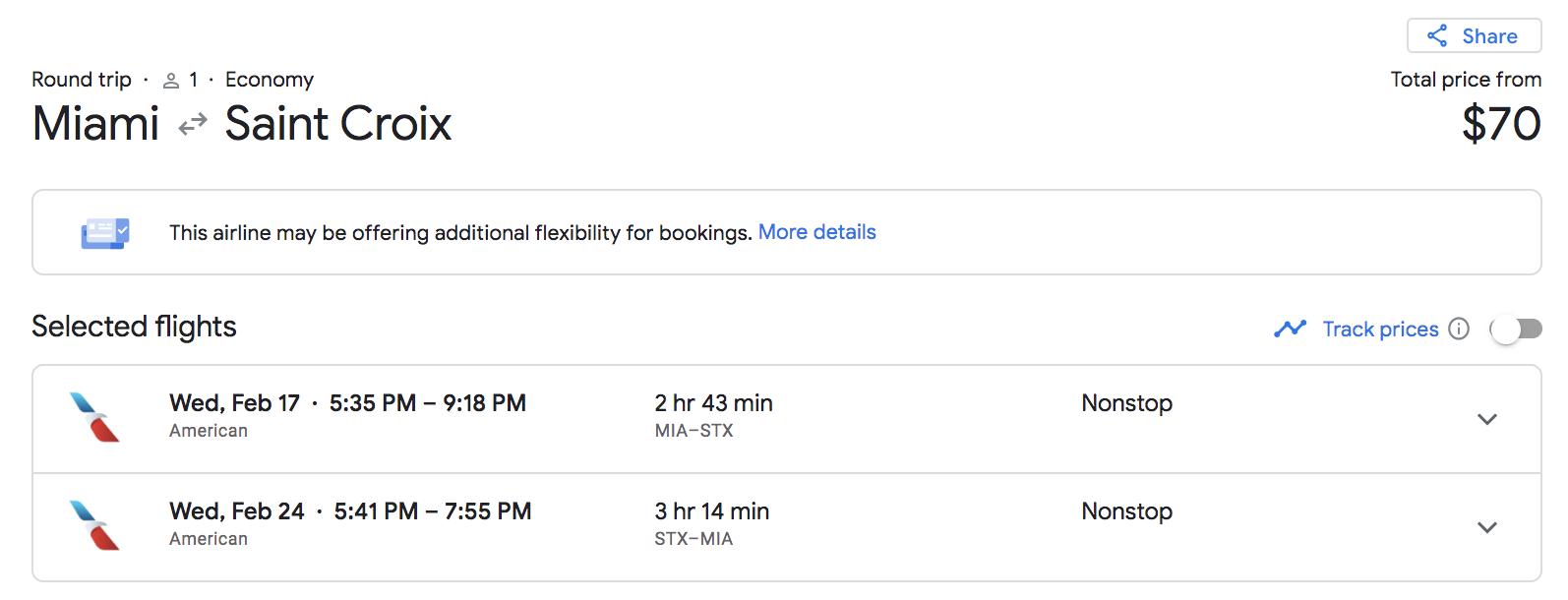 miami to st croix google flights