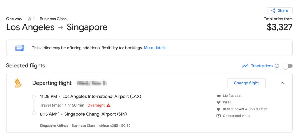google flights singapore