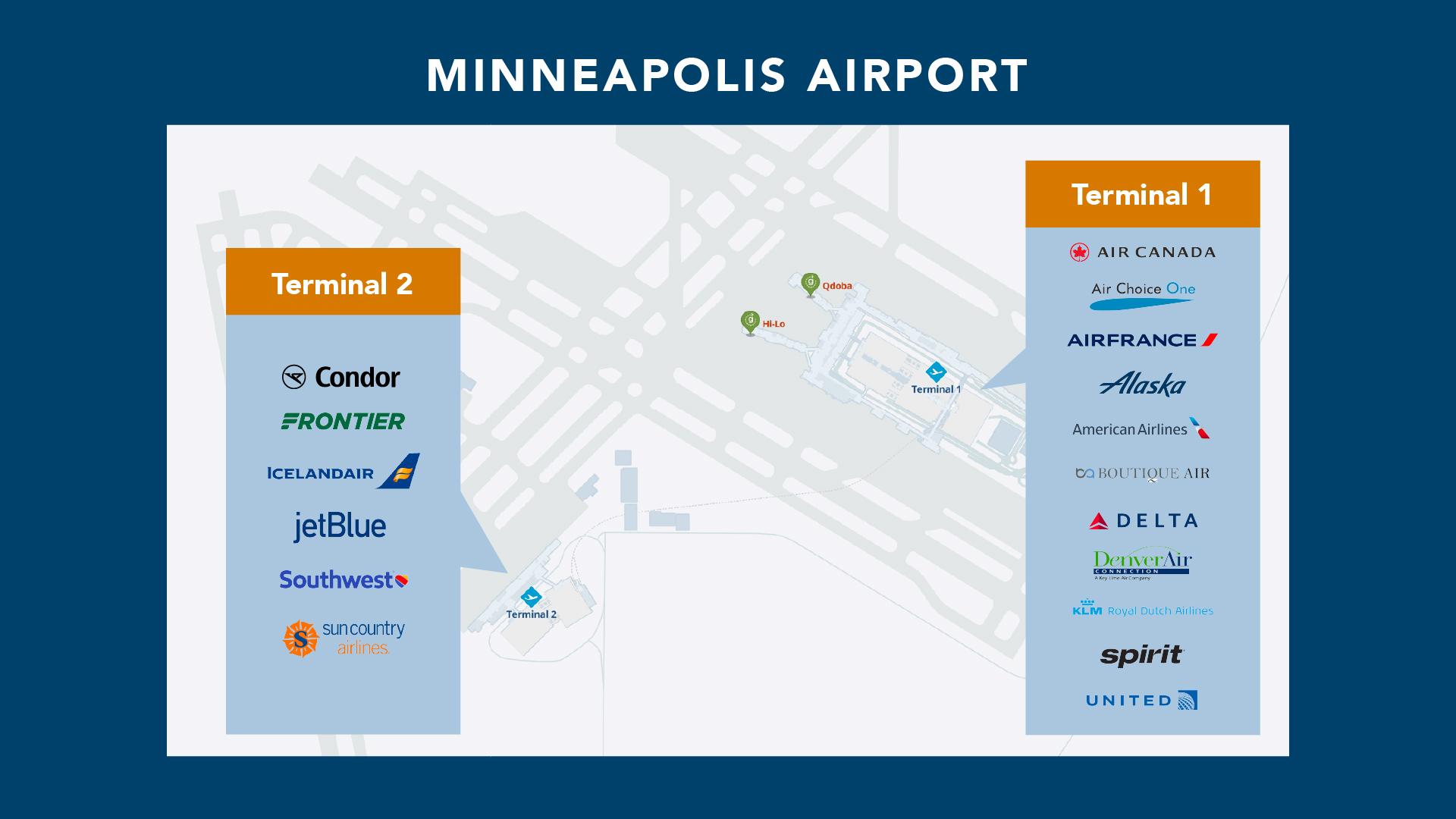 Minneapolis airport terminal map