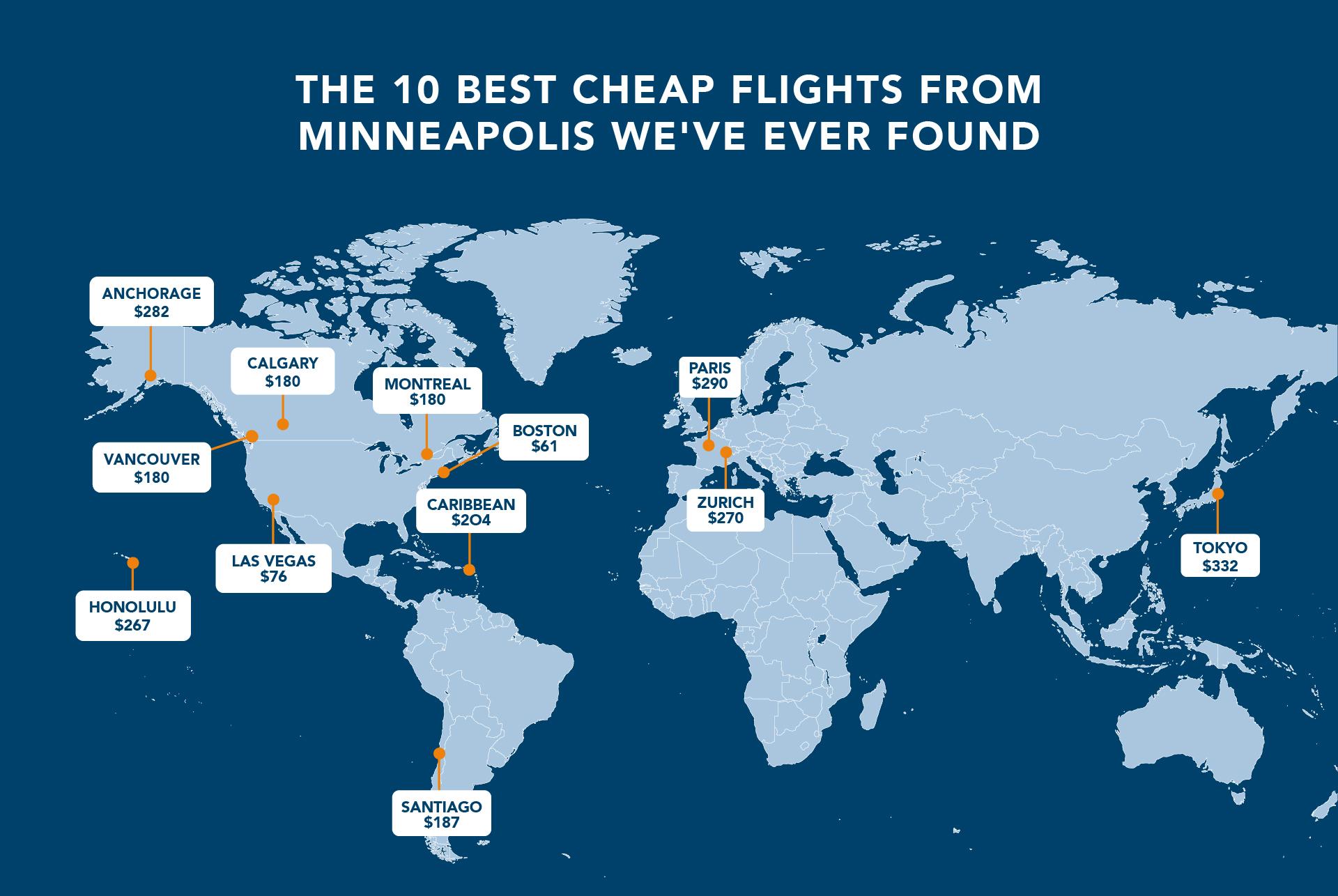 cheap flights from minneapolis