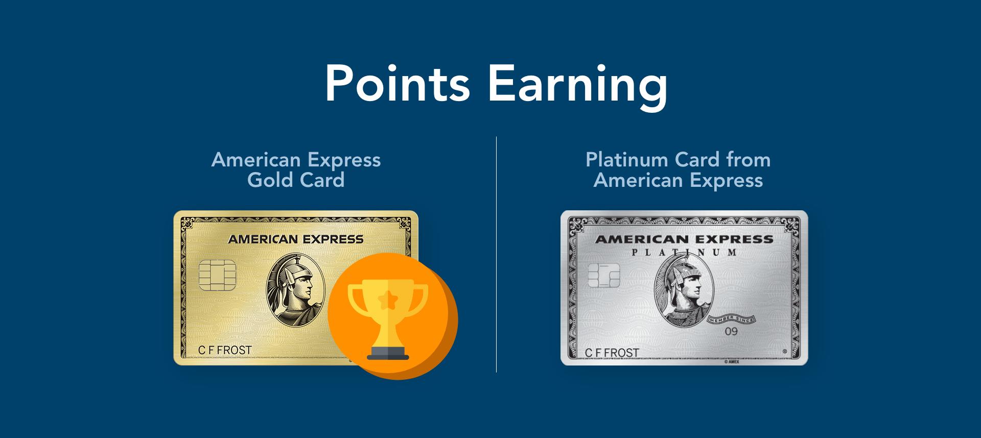 amex gold vs platinum points