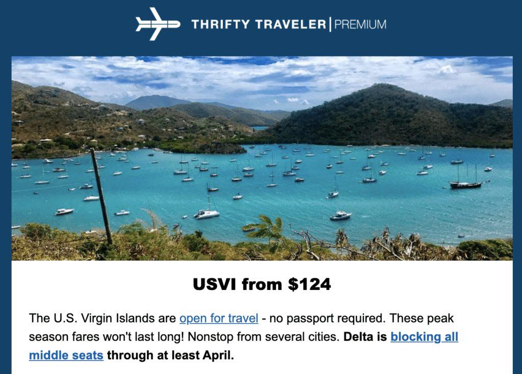 cheap flights to the us virgin islands