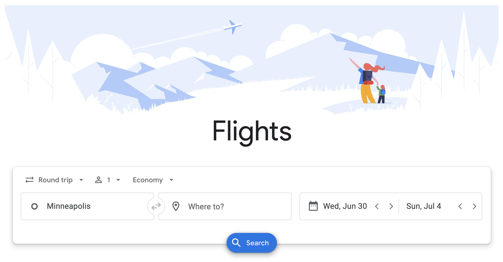 Google Flights cheap international flights