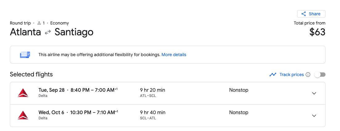 flights to Santiago best day to book flights