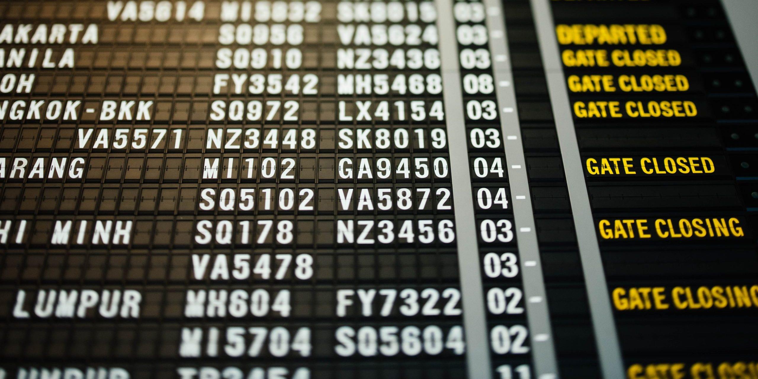 flight schedule change
