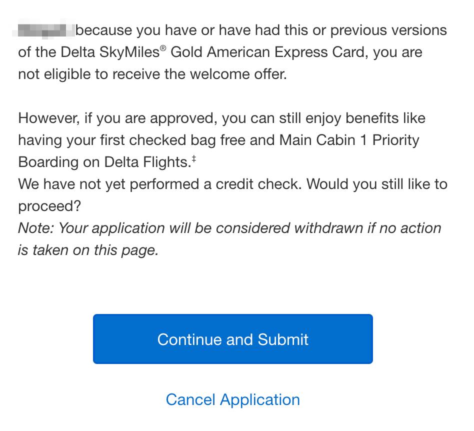 Membership Rewards welcome offer tool