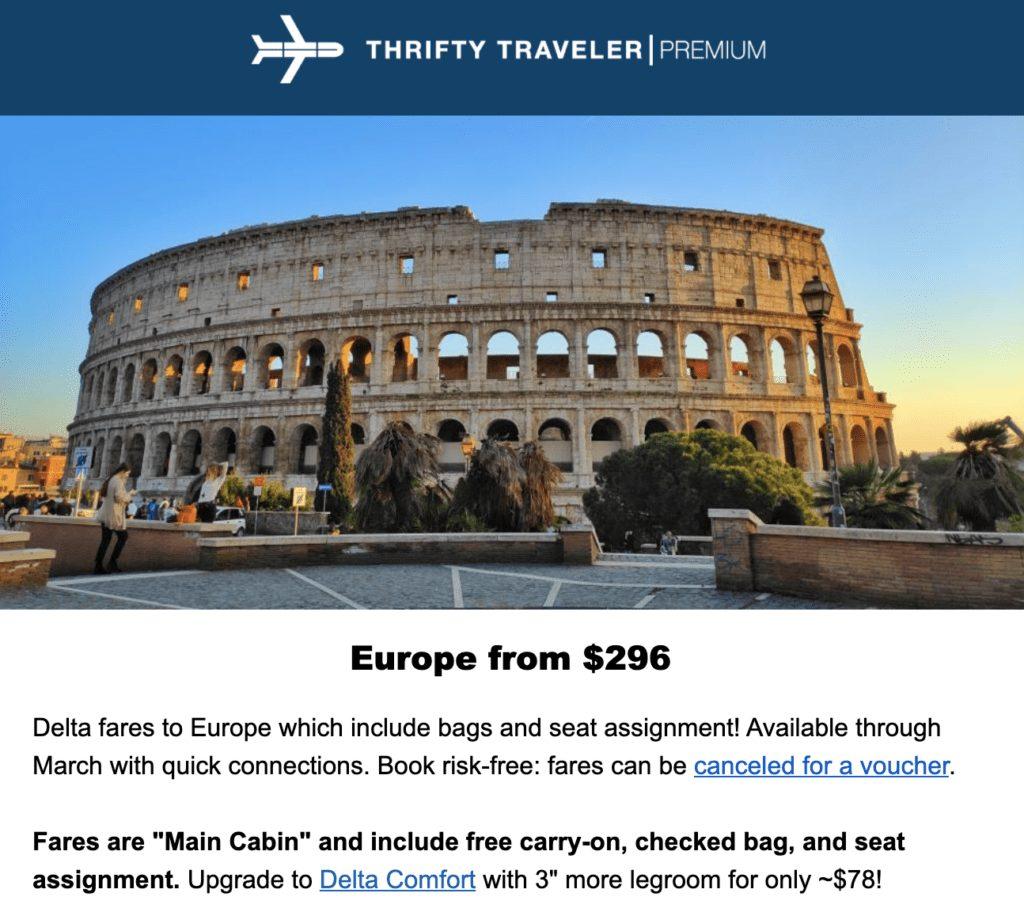 premium deal Europe