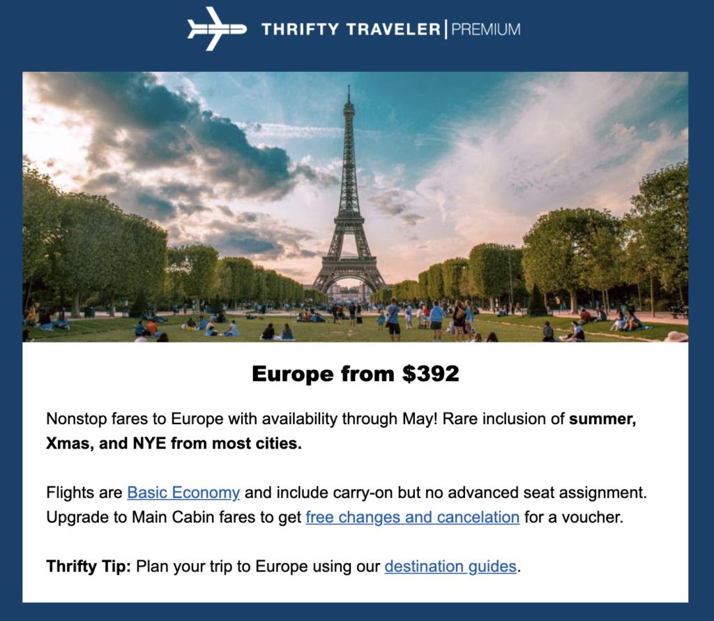 TT Premium Cheap Flights to Europe