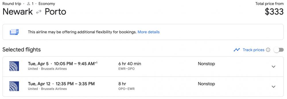 Cheap Flights to Europe: Newark to Porto