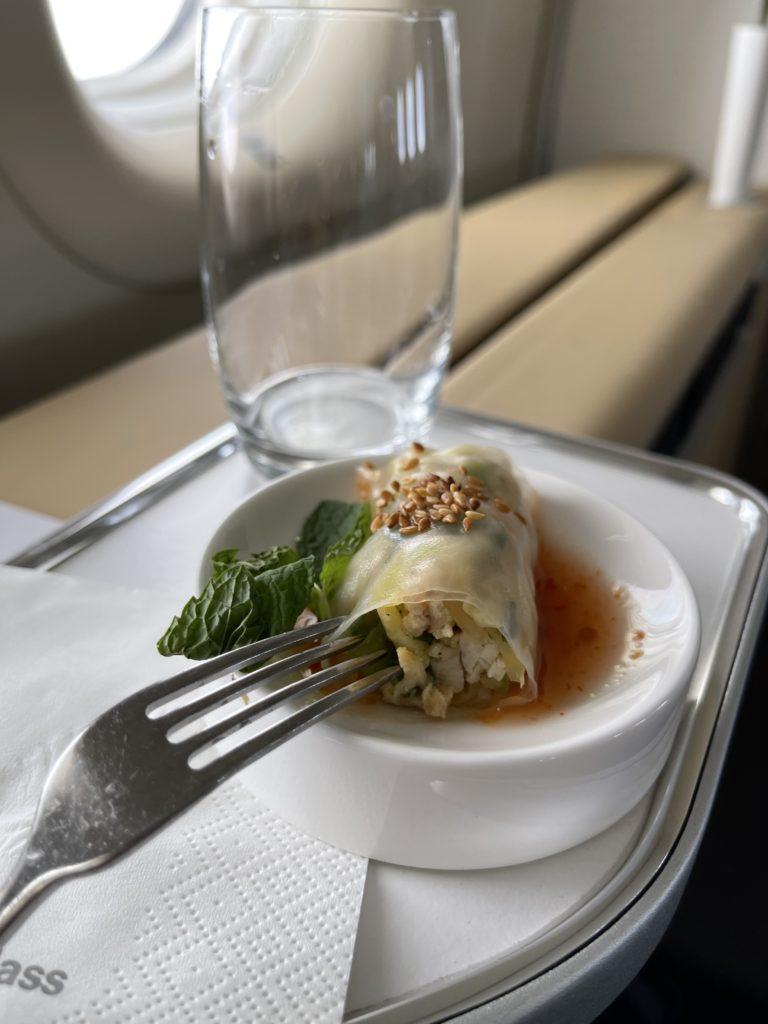 lufthansa first class meal