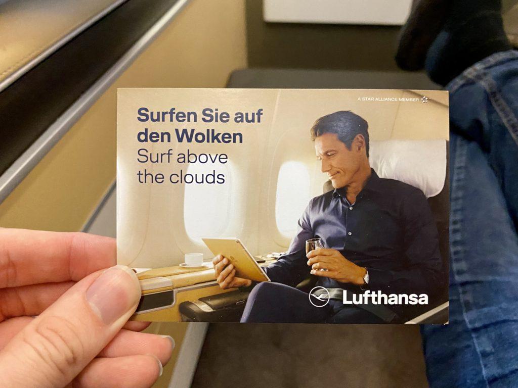 lufthansa first class wifi