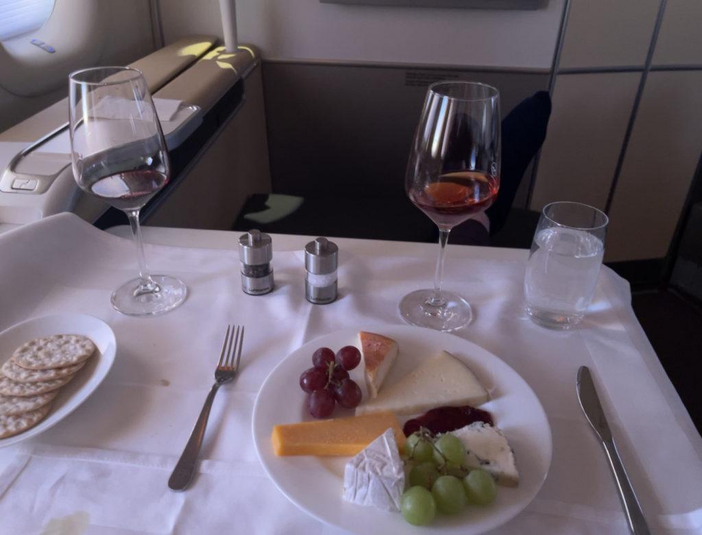 lufthansa first class cheese