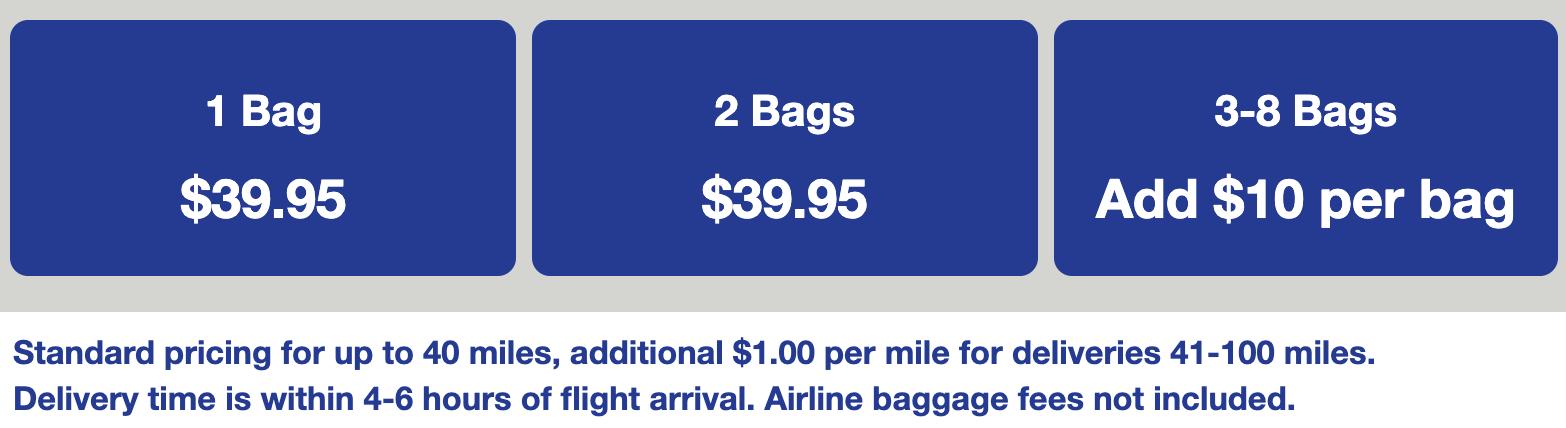 United airlines baggage fees BagsVIP