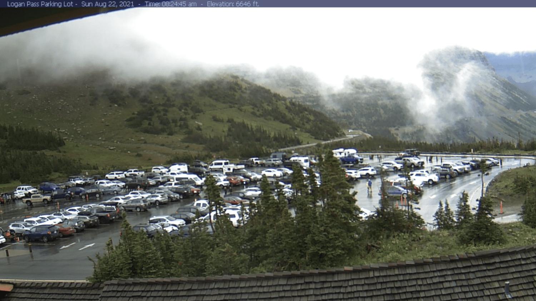 Logan Pass parking Glacier National Park