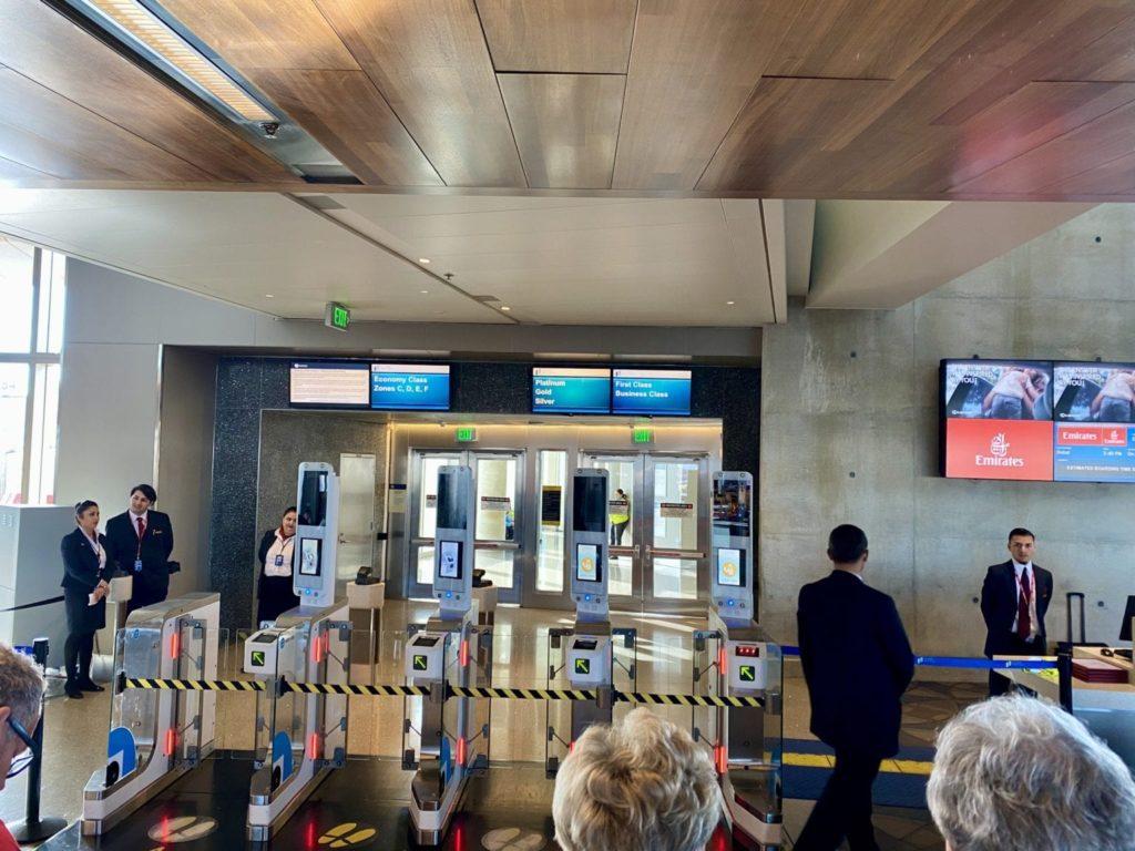 business Class vs First Class: Emirates boarding process