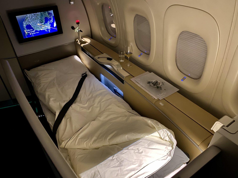 lufthansa first class bed