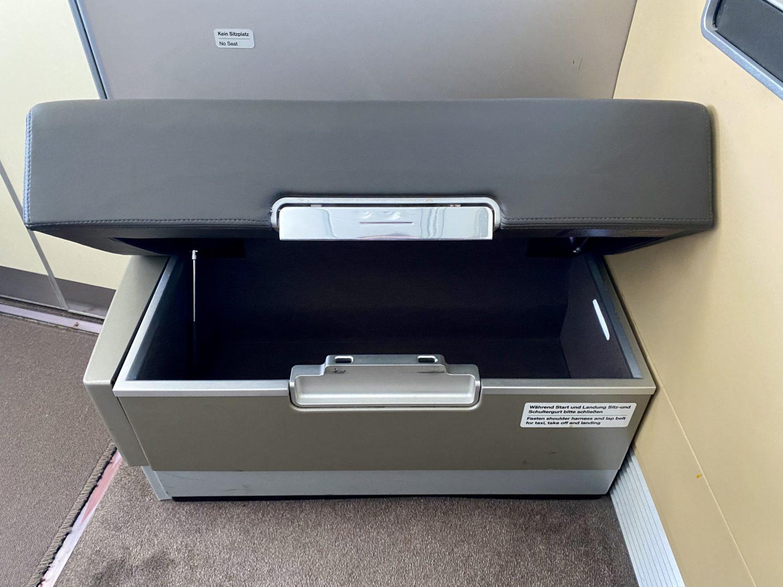lufthansa first class storage
